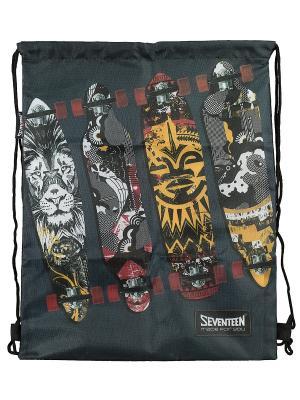 Сумка-рюкзак для обуви Seventeen. Цвет: темно-серый, оранжевый, желтый