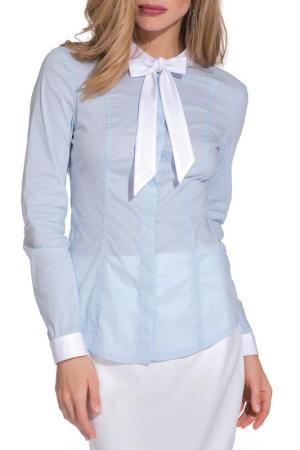 Рубашка Gloss. Цвет: голубой, белый