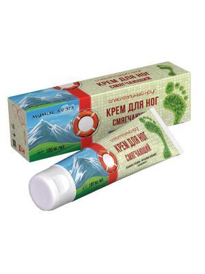 Крем для ног смягчающий с мумие и чайным деревом 100мл. Спасательный круг. Цвет: белый