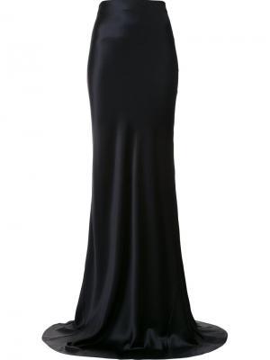 High-waisted maxi skirt Galvan. Цвет: чёрный