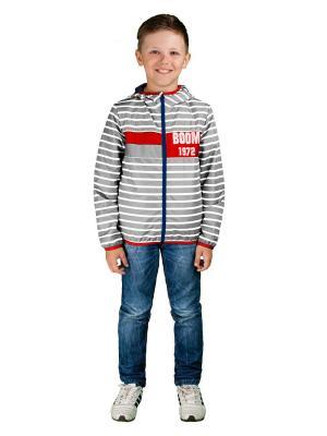 Куртка BOOM. Цвет: серый, красный
