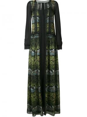 Платье макси с принтом Alberta Ferretti. Цвет: чёрный