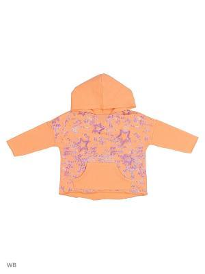Худи United Colors of Benetton. Цвет: светло-оранжевый