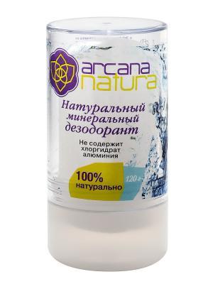 Минеральный дезодорант твердый, 120 г Arcana Natura. Цвет: прозрачный