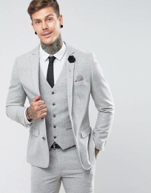 Harry Brown Облегающий пиджак. Цвет: серый