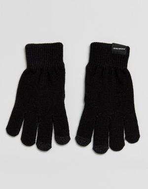 Vero Moda Трикотажные перчатки. Цвет: черный