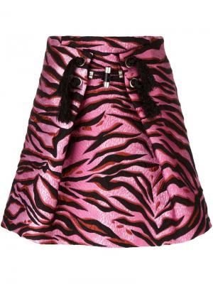 Юбка Tiger Stripes Kenzo. Цвет: чёрный