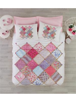 Постельное белье Cotton Box. Цвет: розовый, белый, голубой, фиолетовый