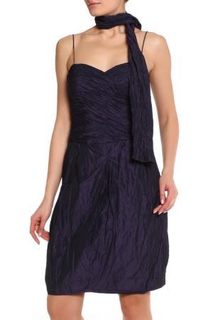 Полуприлегающее платье с шарфом JS Collections. Цвет: фиолетовый