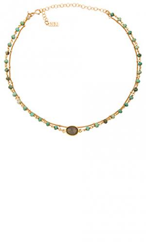 Многорядное ожерелье buried treasure Natalie B Jewelry. Цвет: металлический золотой