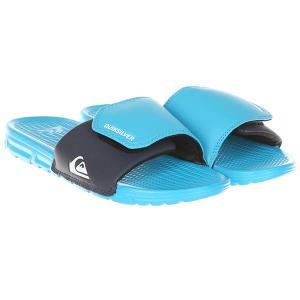 Шлепанцы детские  Shoreliadjustyt Blue/Blue/Black Quiksilver. Цвет: голубой