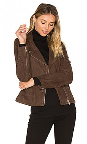 Замшевая куртка visioni MKT studio. Цвет: коричневый