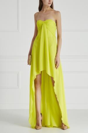 Платье MSGM. Цвет: желтый