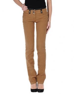 Повседневные брюки ROBERTA SCARPA. Цвет: верблюжий