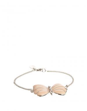 Посеребренный браслет с бабочкой And Mary. Цвет: серебряный