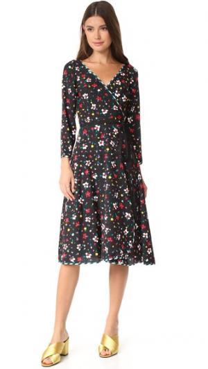 Платье-халат с завязками на талии Marc Jacobs. Цвет: черный мульти