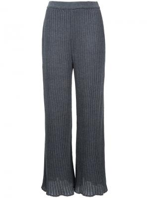 Ribbed knit pants G.V.G.V.. Цвет: серый