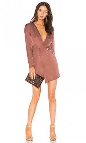 Платье luke NBD. Цвет: розовый