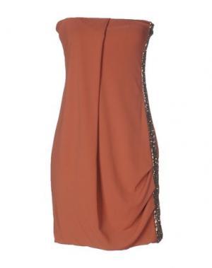 Короткое платье TOY G.. Цвет: коричневый
