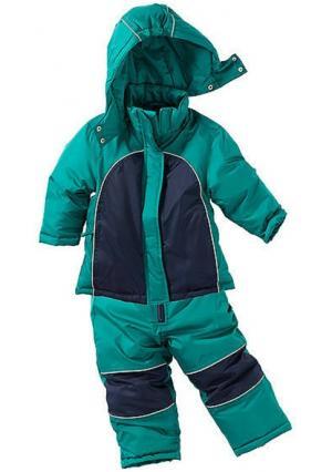 Зимний костюм, 2 части. Цвет: изумрудный, лиловый, синий, синий/оранжевый, цвет баклажана/дымчато-розовый