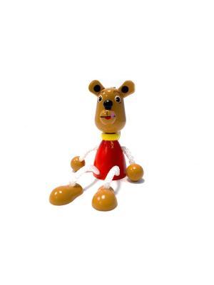 Игрушка подвеска на пружине - Мишка Taowa. Цвет: бежевый, красный