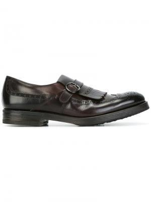 Туфли монки с перфорацией Henderson Baracco. Цвет: коричневый