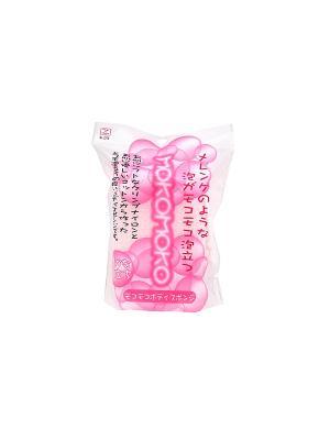 Мочалка для деликатного и нежного мытья тела супер-мягкая/розовая Kokubo. Цвет: прозрачный