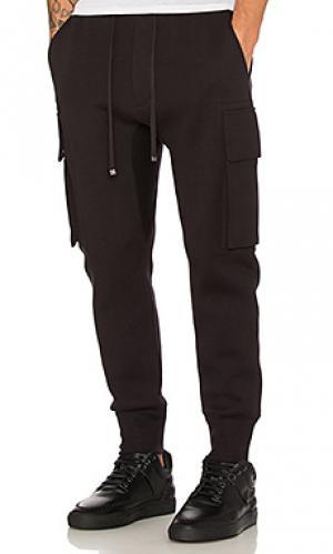 Спортивные брюки карго с дугообразными брючинами Helmut Lang. Цвет: черный