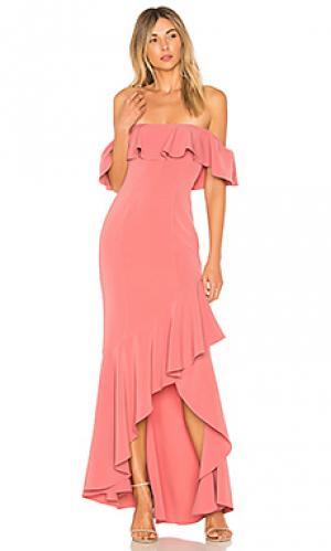 Вечернее платье с открытыми плечами cabrera LIKELY. Цвет: сиреневый