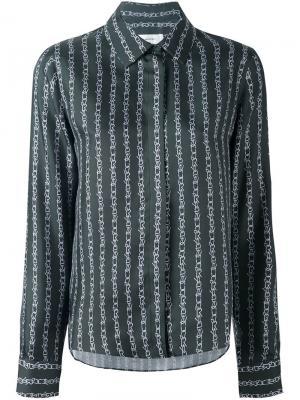 Рубашка с цепочным принтом Carven. Цвет: зелёный