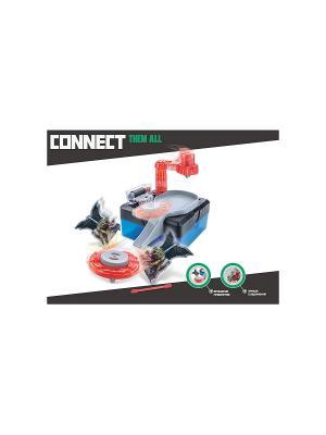 Научный опыт Волчок со светом, на батарейках, в коробке Amazing Toys. Цвет: синий, серый, красный
