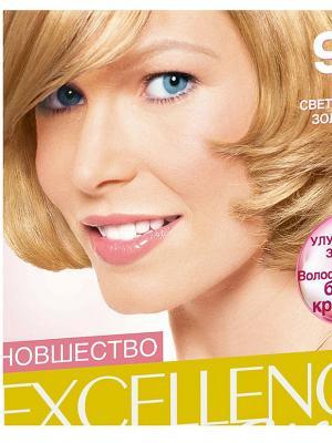 Стойкая крем-краска для волос Excellence, оттенок 9.3, Светло-русый золотистый L'Oreal Paris. Цвет: желтый