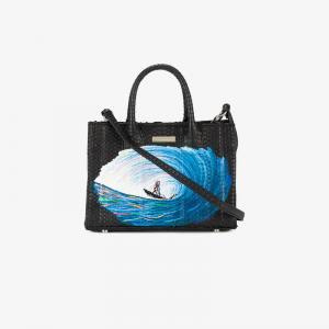 Мини-сумка Belgravia с рисунком Elisabeth Weinstock. Цвет: чёрный