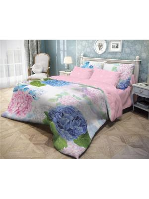Комплект постельного белья 2,0-сп, ВОЛШЕБНАЯ НОЧЬ DIGITAL, ранфорс, 50*70см, Прованс,  Spring melody. Цвет: синий, светло-зеленый, серо-голубой