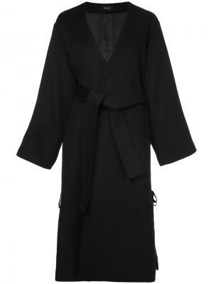 Пальто с поясом и шнуровкой G.V.G.V.. Цвет: чёрный