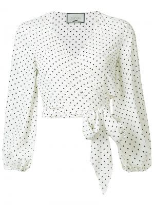 Блузка с запахом Nirav Alexis. Цвет: белый