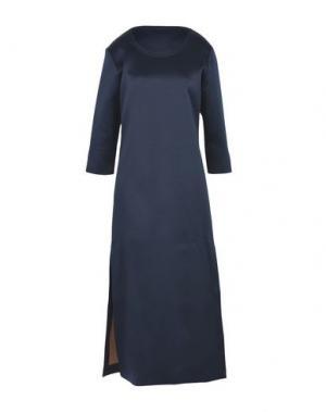 Длинное платье WEILI ZHENG. Цвет: темно-синий