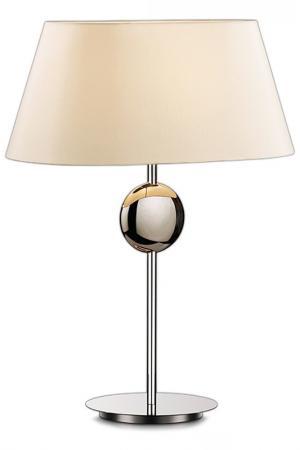 Настольная лампа ODEON LIGHT. Цвет: хром, абажур бежевый