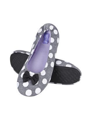 Тапочки женские Soxo. Цвет: серый