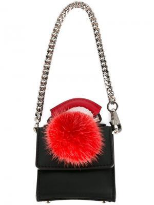 Брелок в форме сумки Les Petits Joueurs. Цвет: чёрный