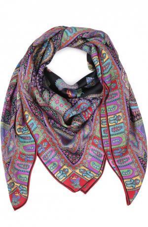 Шелковый платок с принтом Michele Binda. Цвет: красный