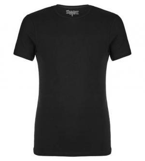 Черная футболка с круглым вырезом Bread&Boxers. Цвет: черный