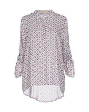 Блузка LOU LONDON. Цвет: белый
