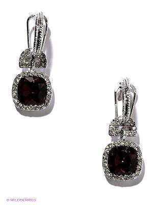 Серьги Royal Diamond. Цвет: бордовый