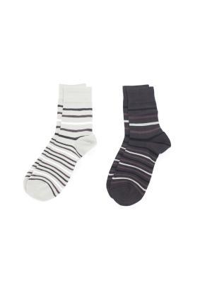 Носки, 2 пары Cascatto. Цвет: коричневый, бежевый