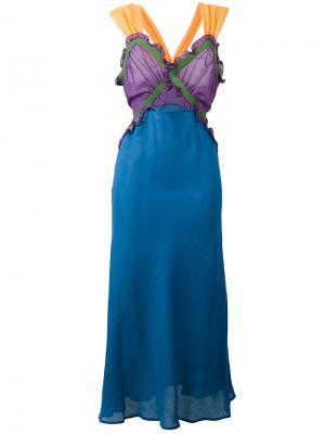 Платье Juliana Attico. Цвет: многоцветный