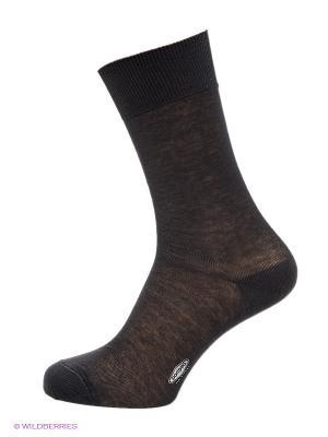 Носки из хлопка POMPEA. Цвет: антрацитовый