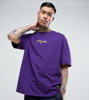 Sixth June Желтая футболка. Цвет: фиолетовый