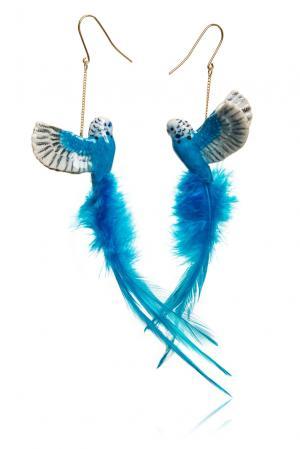 Серьги 157302 Nach Jewellery. Цвет: синий