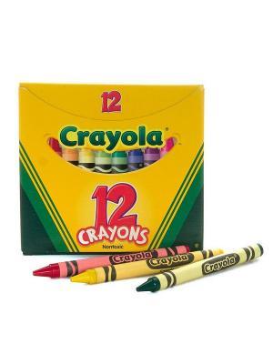 12 разноцветных восковых мелков Crayola. Цвет: желтый